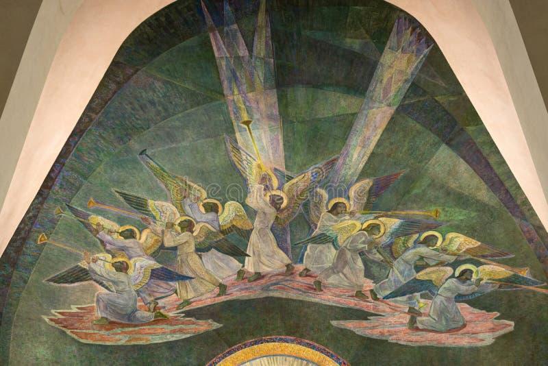 Engelen bij Rovaniemi-Kerk stock afbeelding