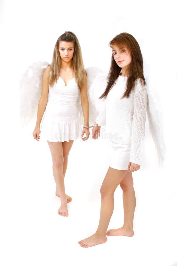 Engelen in Handcuffs royalty-vrije stock afbeeldingen