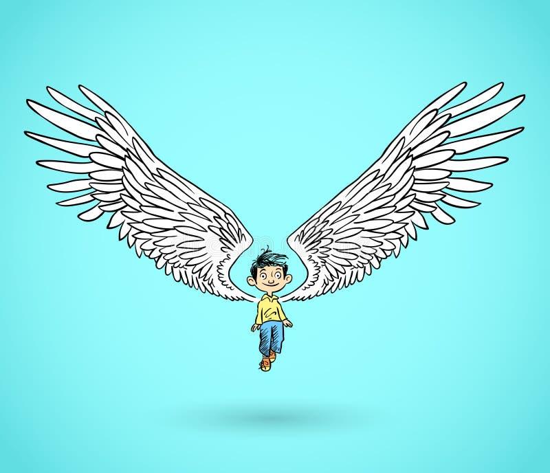Engelenjongen vector illustratie
