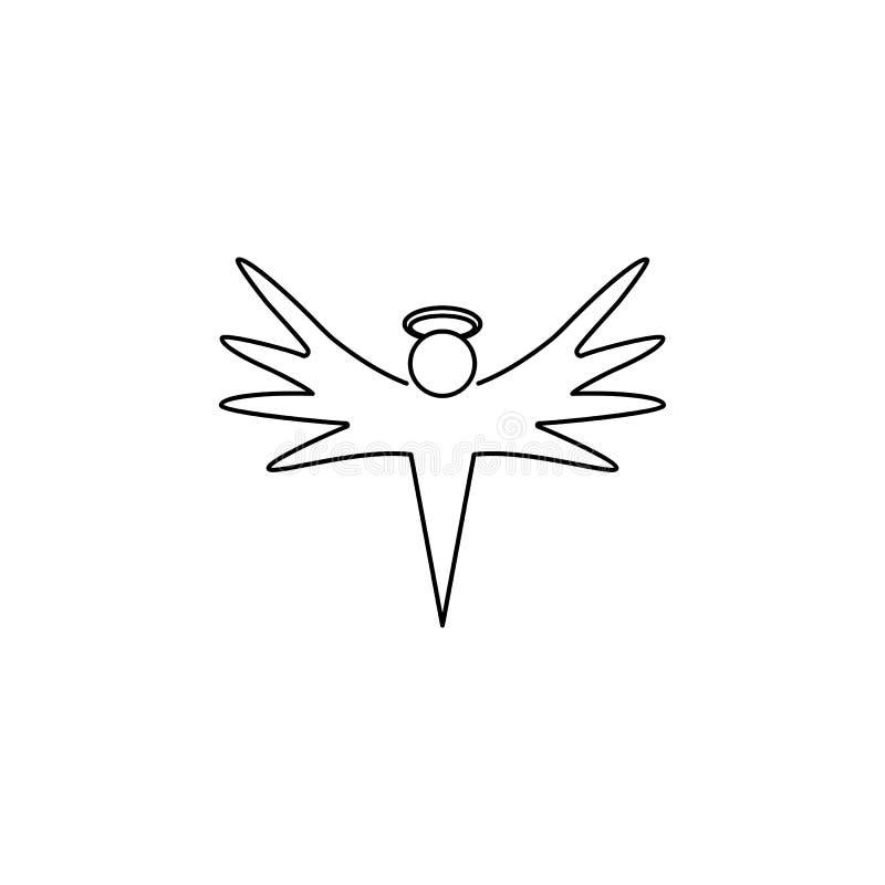 Engelenpictogram Element van engel en demonpictogram voor mobiel concept en Web apps Dun lijnpictogram voor websiteontwerp en ont royalty-vrije illustratie