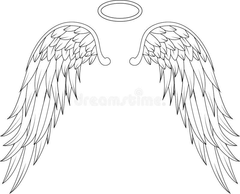 Engelenvleugels voor u ontwerp royalty-vrije illustratie