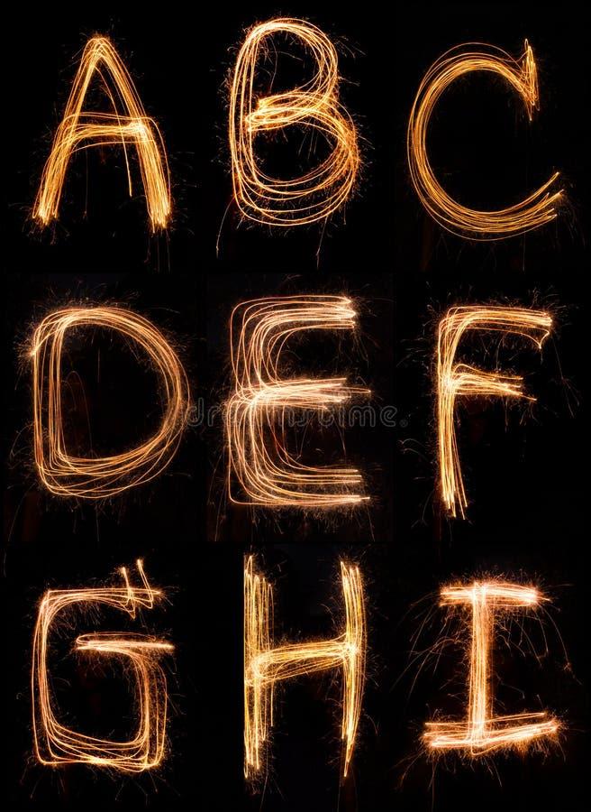 Engels alfabet stock afbeelding