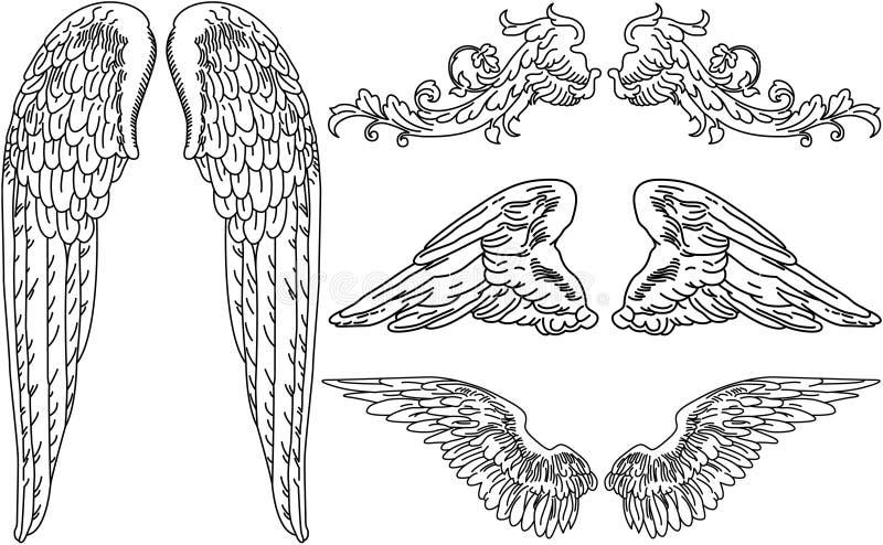 Engels-Flügel vektor abbildung