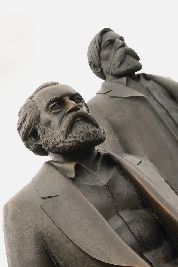 engels friedrich Karl Marx royaltyfri foto
