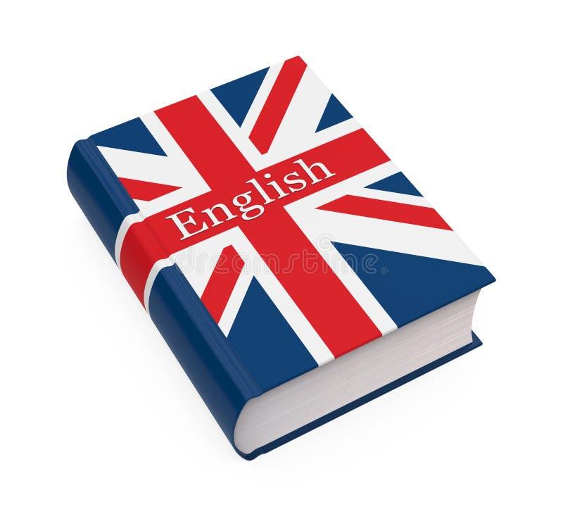 Engels Geïsoleerd Woordenboekboek stock illustratie
