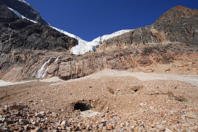 Engels-Gletscher mit Eis-Höhle lizenzfreies stockfoto