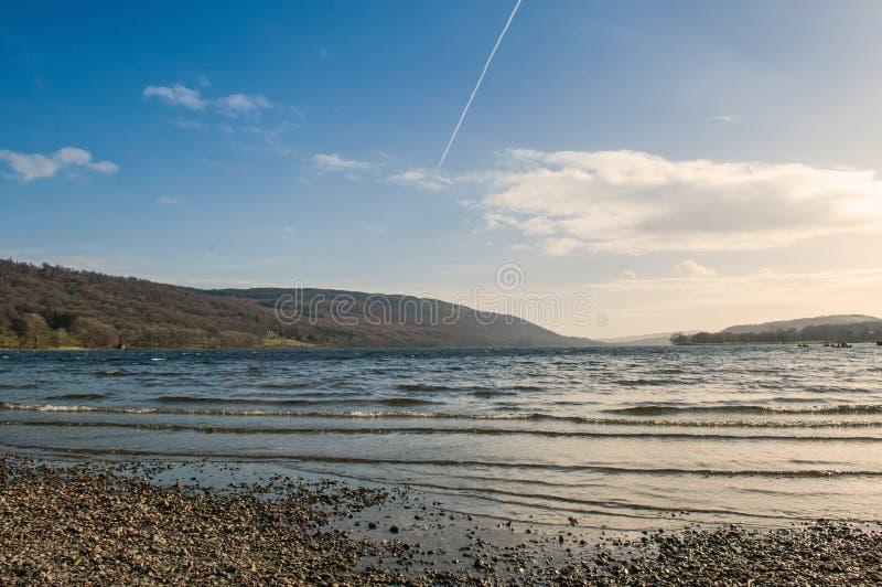 Engels het Meerdistrict Cumbria van het Conistonwater stock afbeeldingen