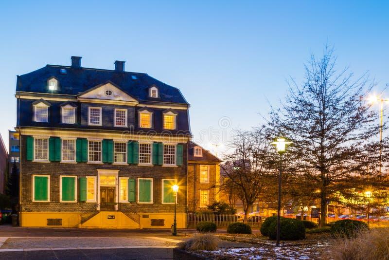 Engels hus i Wuppertal-bartendrar arkivfoton
