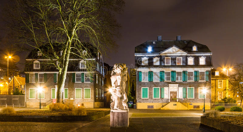 Engels hus i Wuppertal-bartendrar arkivfoto