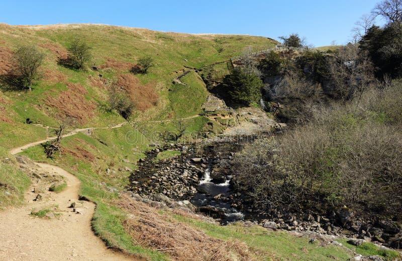 Engels Landelijk Landschap in de Dallen van Yorkshire stock fotografie