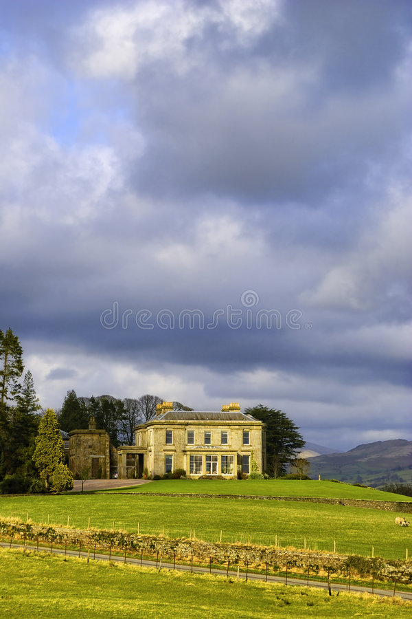 Engels landlandgoed royalty-vrije stock afbeelding