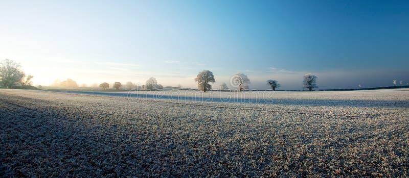 Engels Landschap in de Winter royalty-vrije stock afbeeldingen
