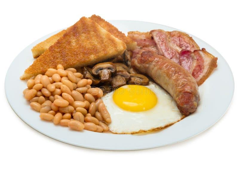 Engels ontbijt op de plaat stock afbeeldingen