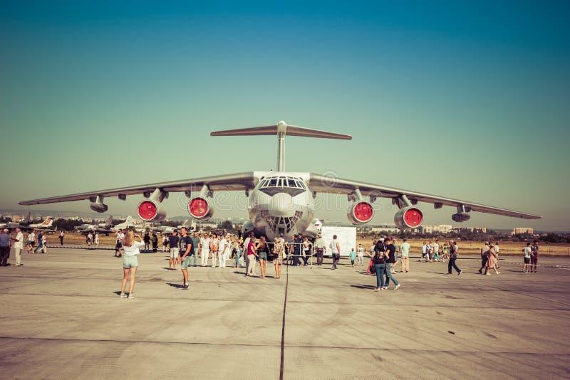 Engels Ryssland - Augusti 19, 2017: Dag av luftflottan arkivfoton