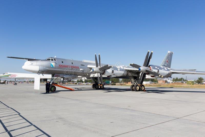 Engels Ryssland - Augusti 19, 2017: Dag av luftflottan arkivbild