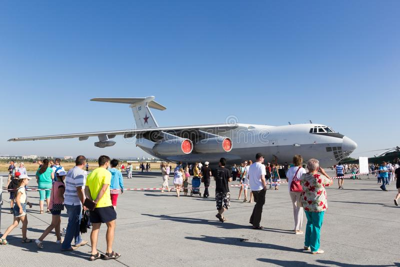 Engels Ryssland - Augusti 19, 2017: Dag av luftflottan royaltyfri foto
