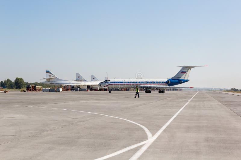 Engels Ryssland - Augusti 19, 2017: Dag av luftflottan royaltyfri bild