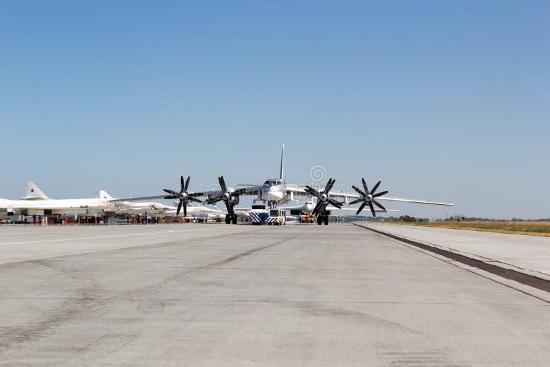 Engels Ryssland - Augusti 19, 2017: Dag av luftflottan royaltyfria bilder