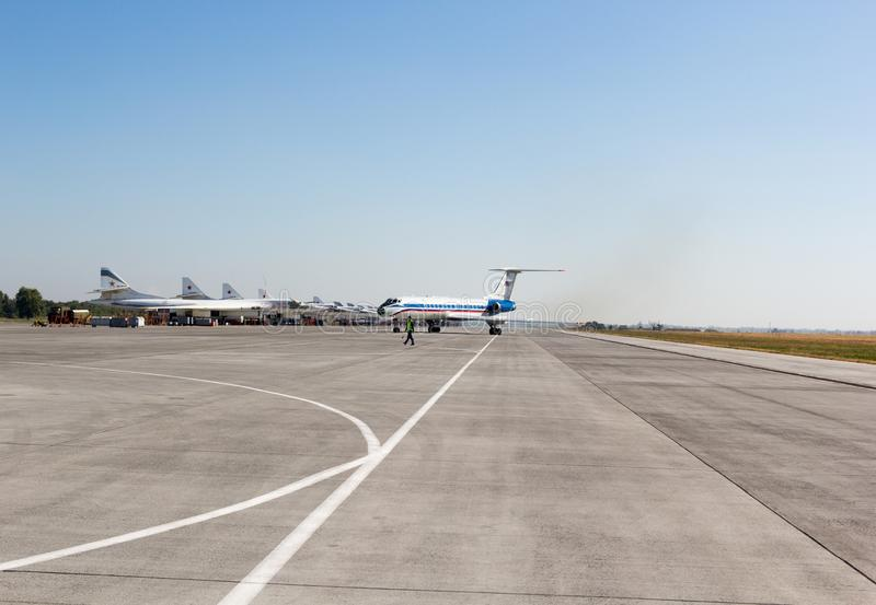 Engels Ryssland - Augusti 19, 2017: Dag av luftflottan arkivfoto