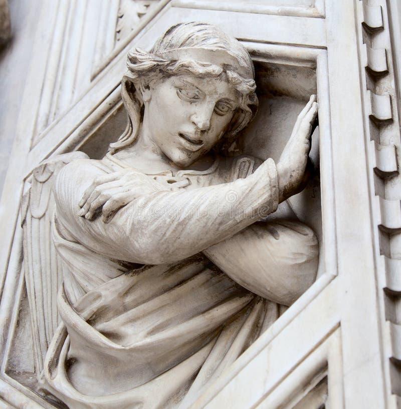 Engels-Statuen stockbild
