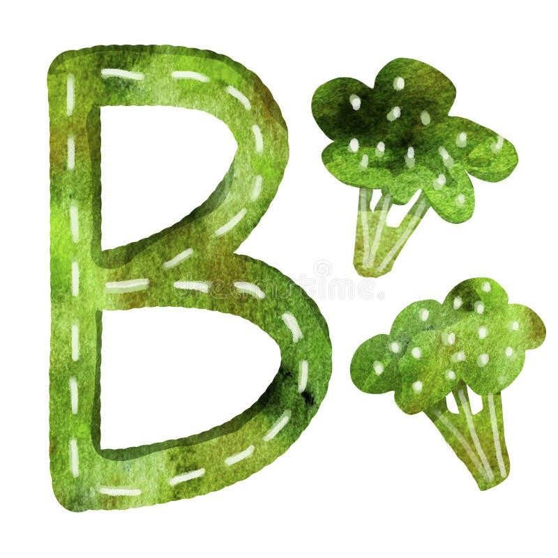 Engelse alfabetbrief B royalty-vrije illustratie