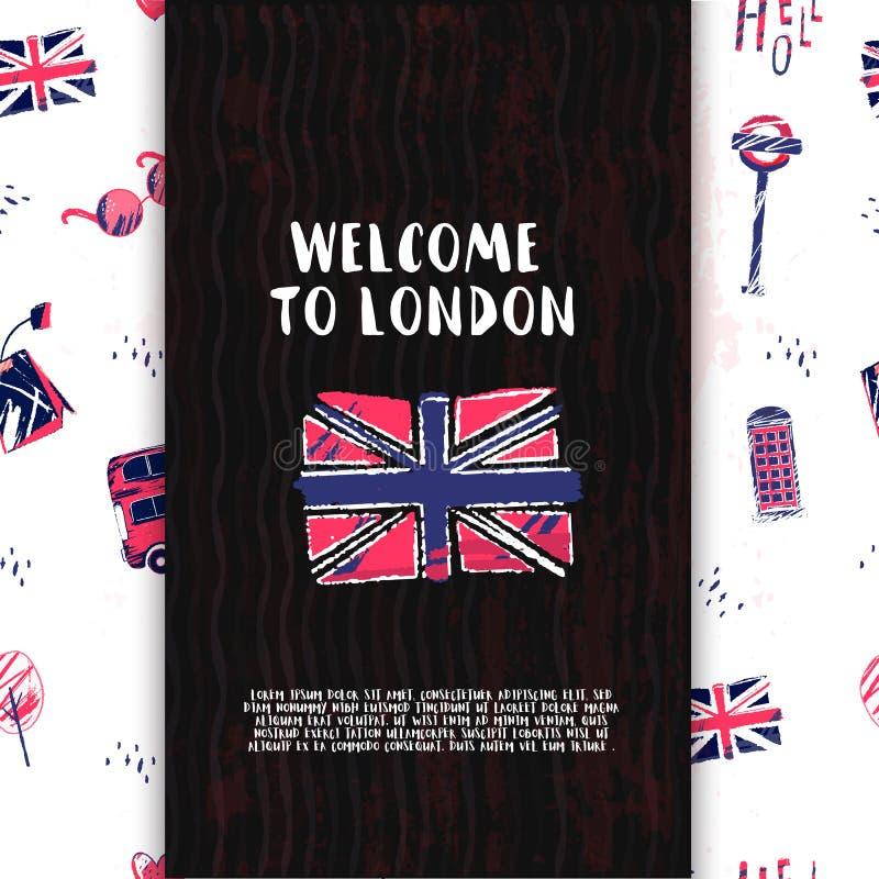 Engelse die clubbanner met de vlag van Groot-Brittannië wordt geplaatst Brits vectorstudieconcept royalty-vrije illustratie