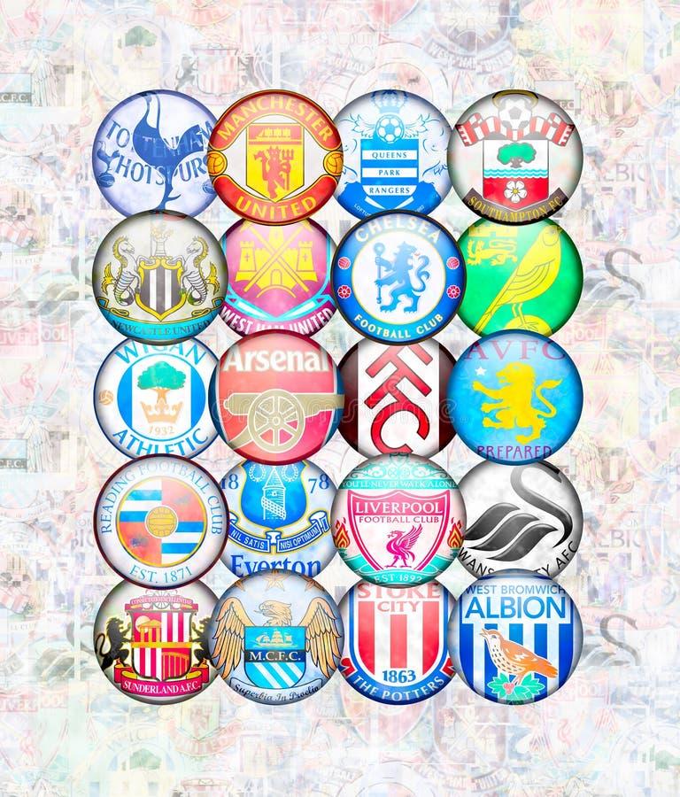 Engelse Eerste Liga 2012/13 vector illustratie
