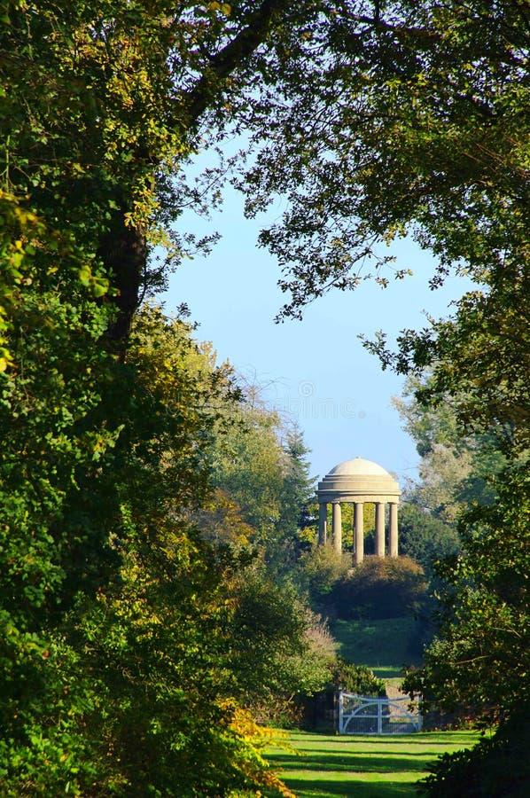 Engelse Gronden van Tempel Woerlitz van Venus stock foto