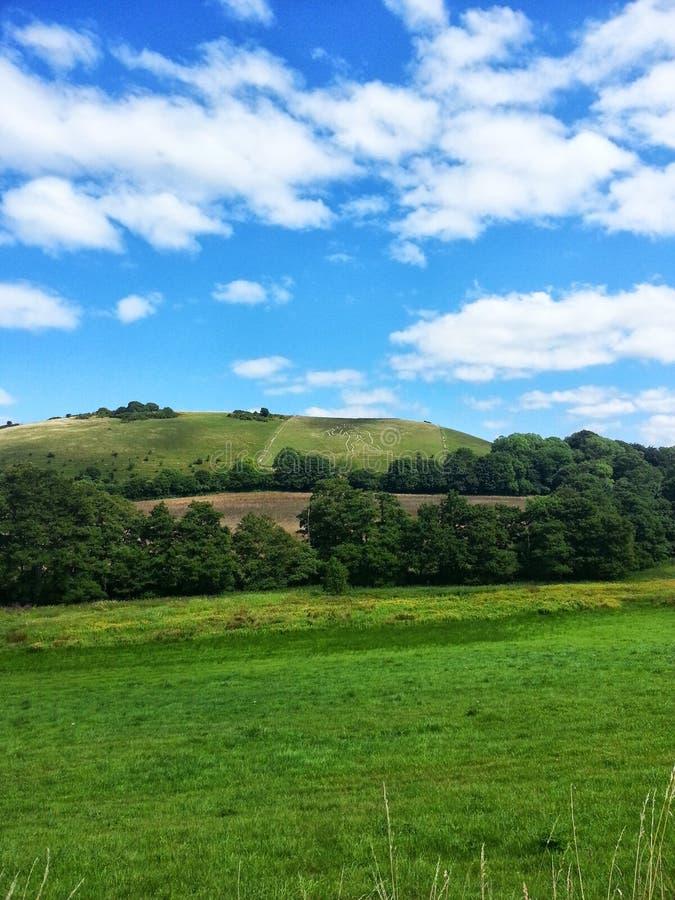 Engelse heuvels stock foto