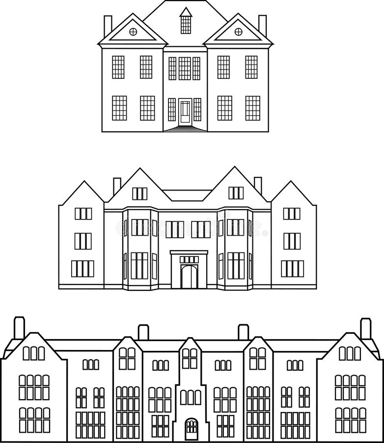 Engelse manors stock fotografie
