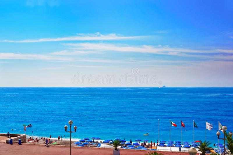 Engelse promenade van Nice Frankrijk royalty-vrije stock fotografie