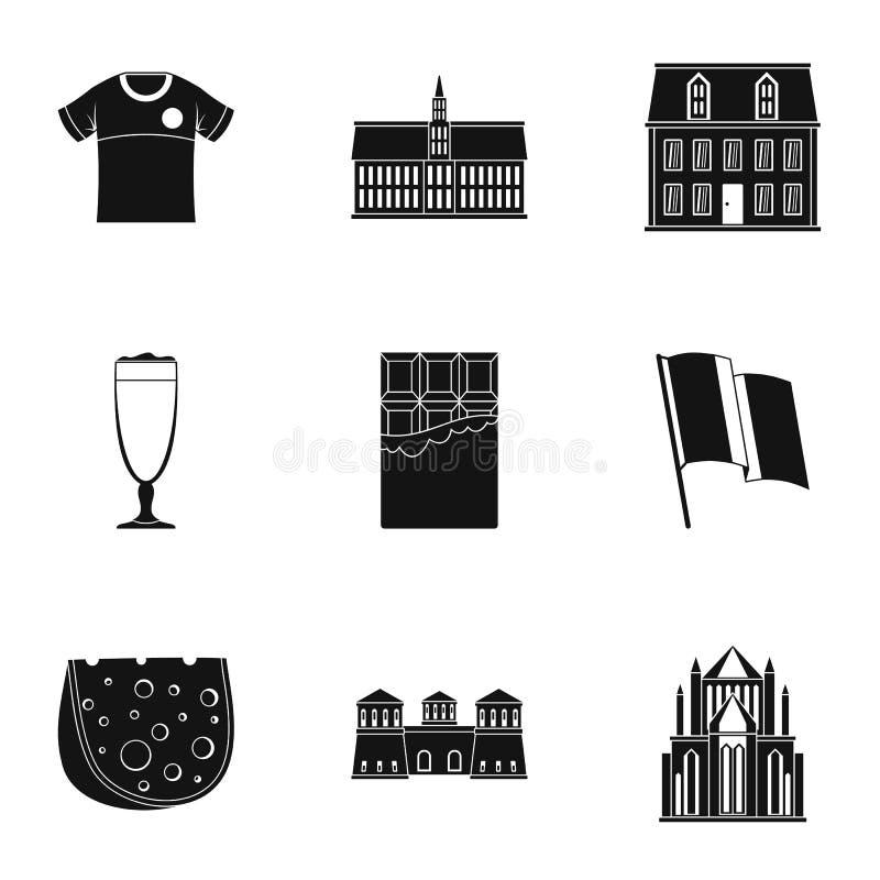 Engelse smakelijke geplaatste pictogrammen, eenvoudige stijl vector illustratie