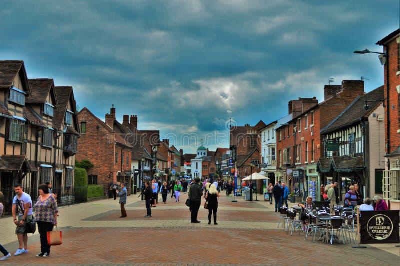 Engelse stad royalty-vrije stock afbeelding