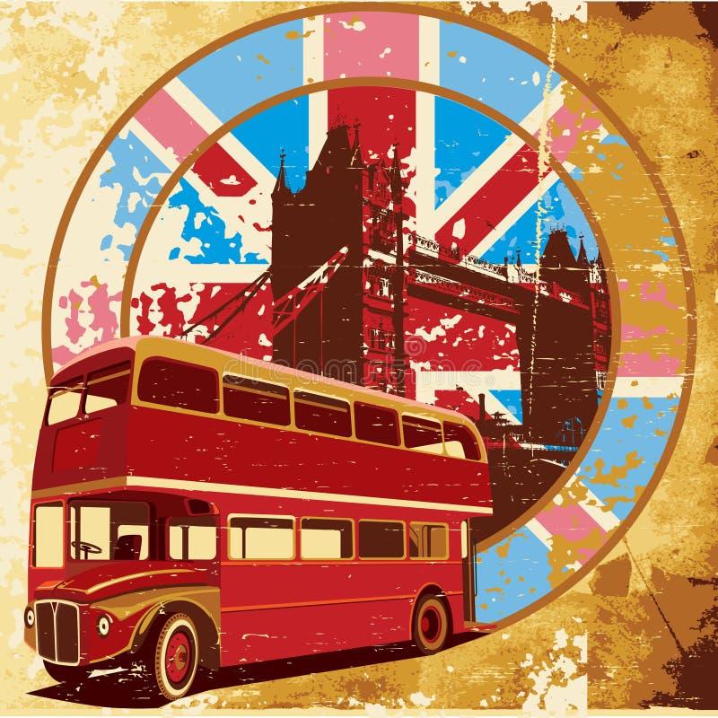 Engelse Stijl grunge vector illustratie