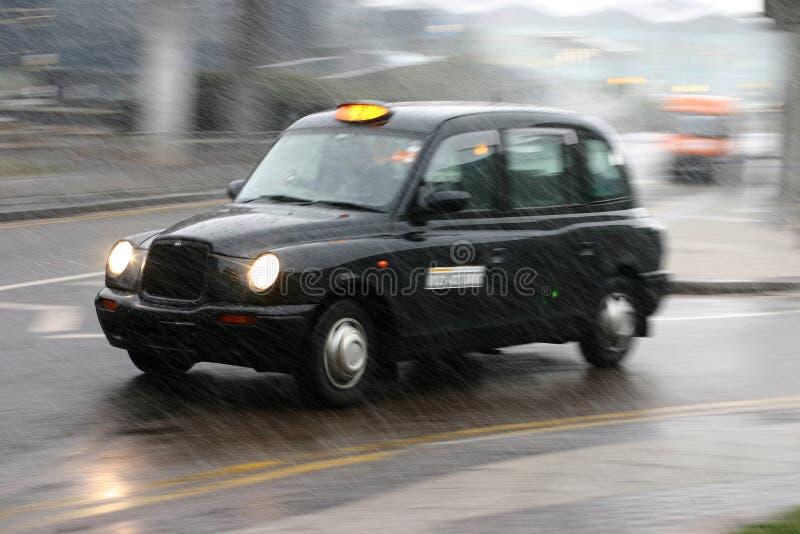 Engelse taxi stock fotografie