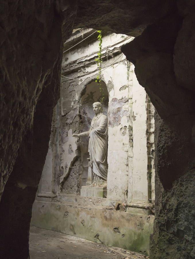 Engelse Tuin in de gronden van beroemd Royal Palace van Caserta stock fotografie