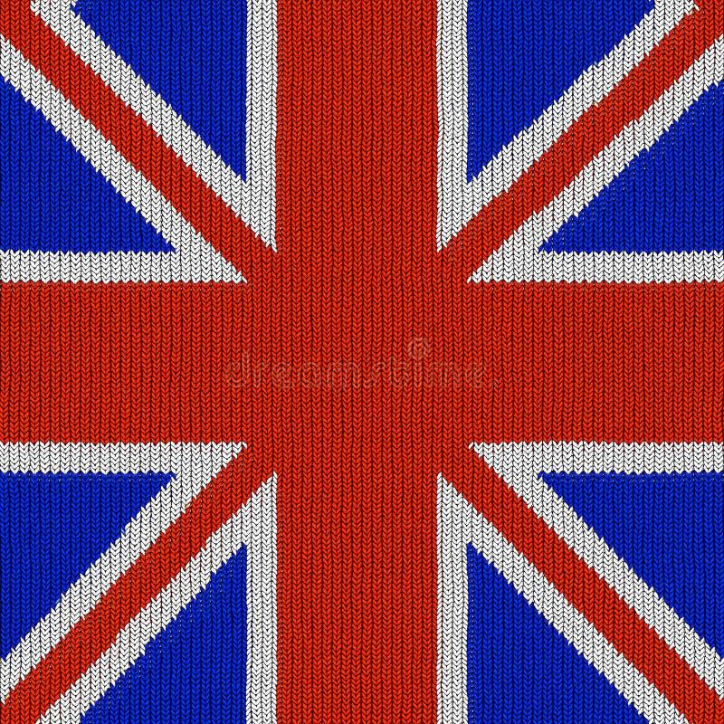 Engelse vlag in het breien van patroon royalty-vrije illustratie