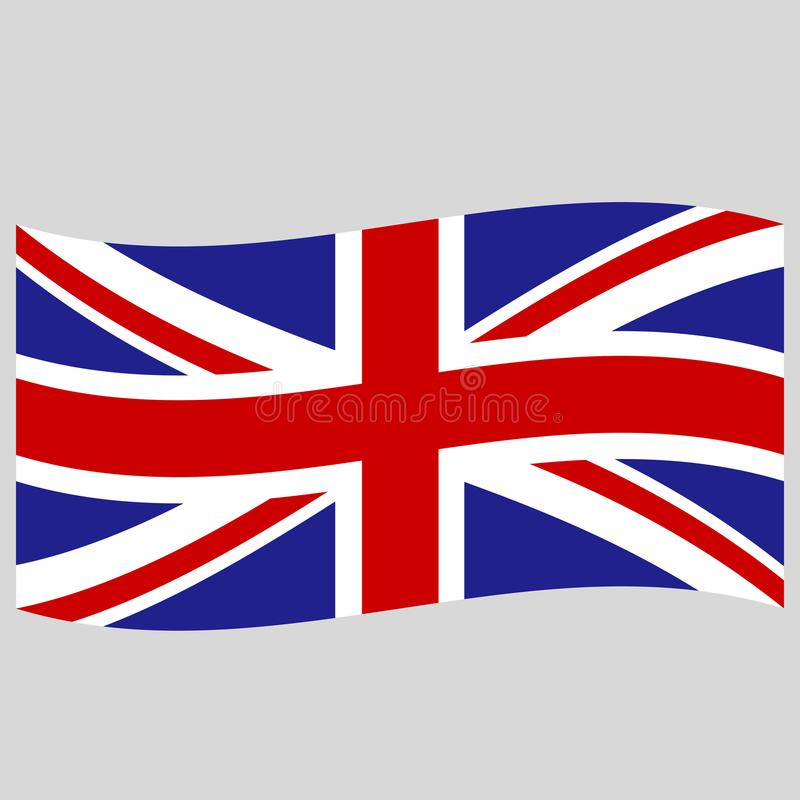 Engelse vlag op grijze vectorillustratie als achtergrond royalty-vrije illustratie