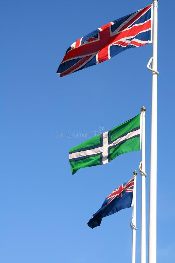 Engelse Vlaggen royalty-vrije stock afbeelding