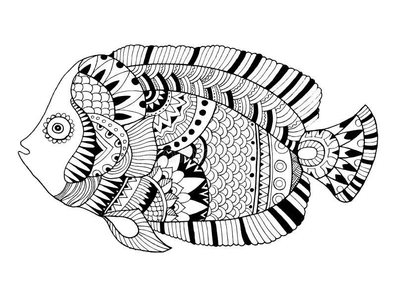 Engelsfischmalbuch-Vektorillustration stock abbildung
