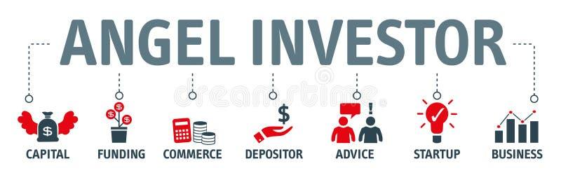 Engelsinvestor Konzept-Vektorillustration vektor abbildung