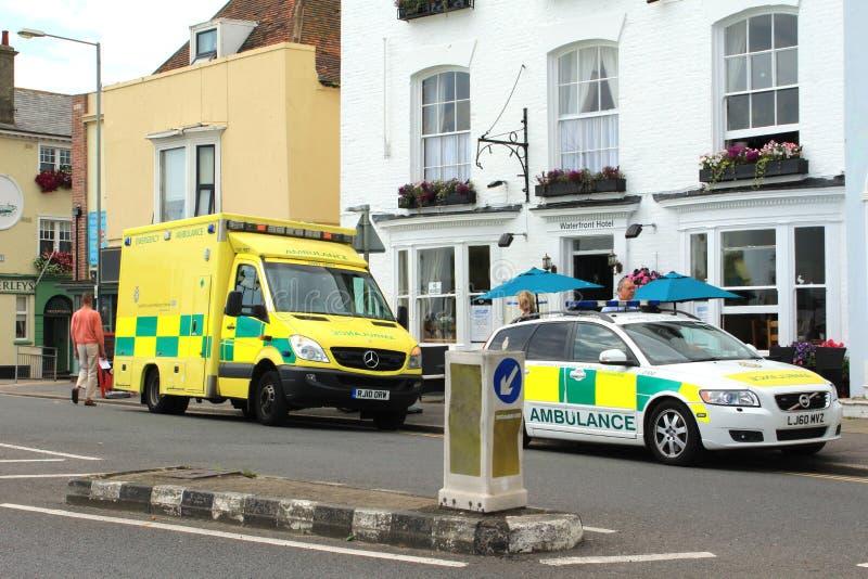 Engelsk ambulans arkivbild