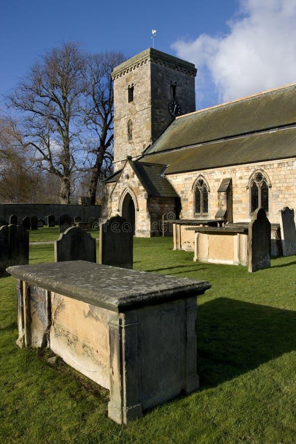 Engelsk församlingkyrka - Yorkshire - Storbritannien royaltyfri bild