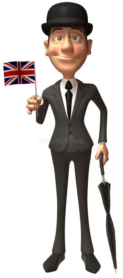engelsk gentleman stock illustrationer