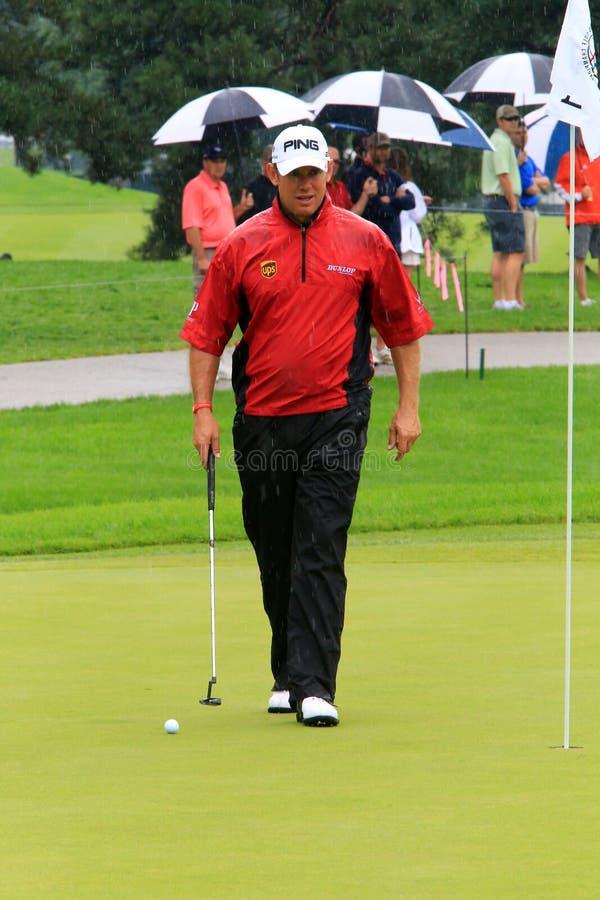 Engelsk golfare Lee Westwood arkivfoto