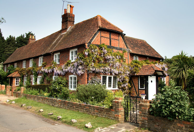 engelsk husby royaltyfria bilder
