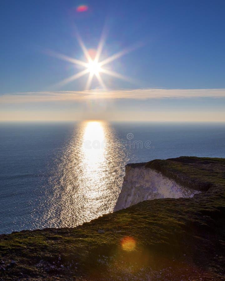 Engelsk kanal som beskådas från klipporna i East Sussex fotografering för bildbyråer