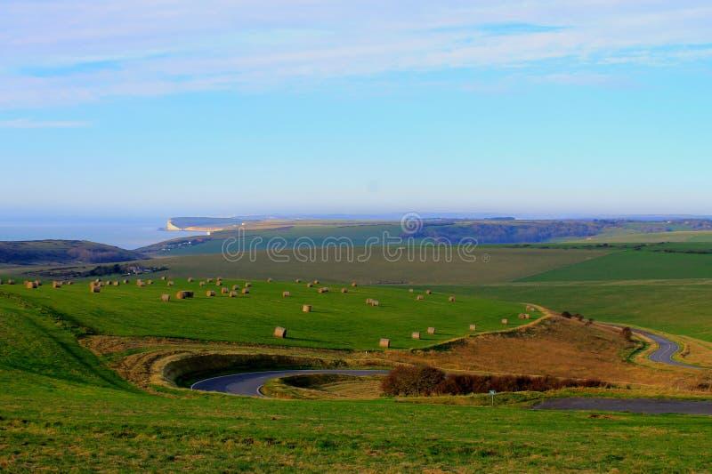 Engelsk kust arkivfoto