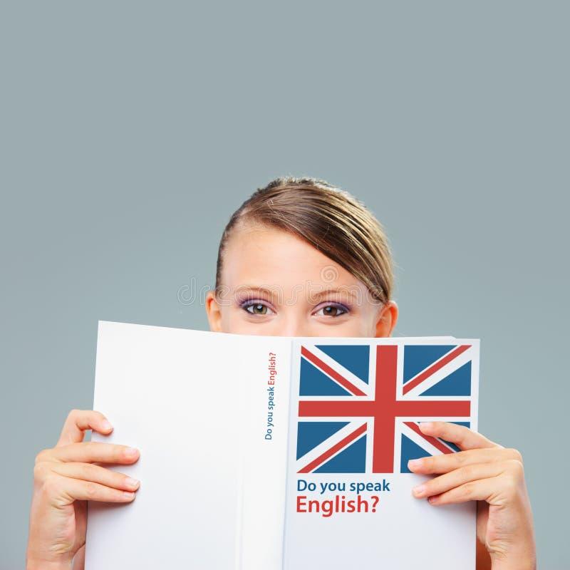 Engelsk kvinnlig student royaltyfri foto