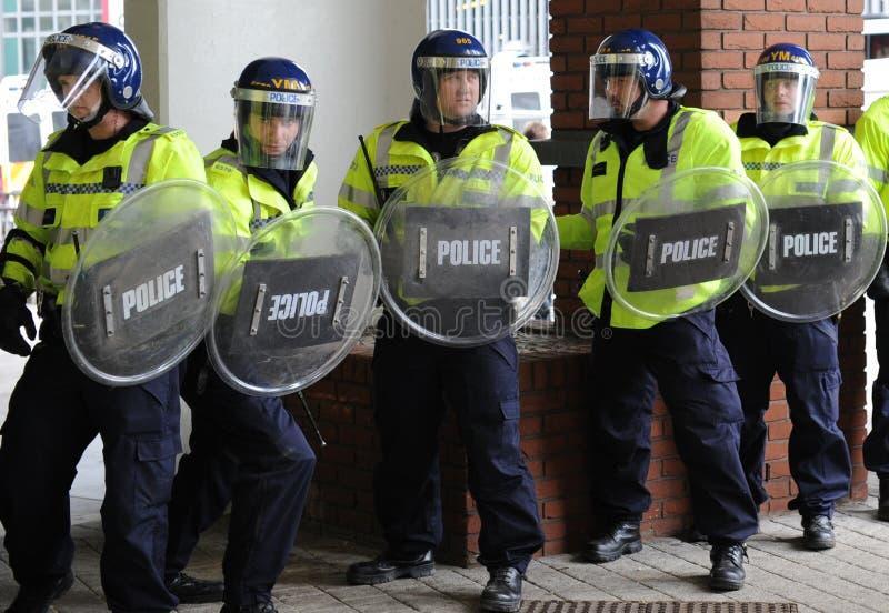 engelsk ligaprotest för försvar royaltyfri bild
